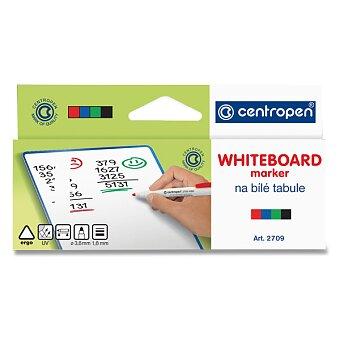 Obrázek produktu Popisovač na bílé tabule Centropen Whiteboard Marker 2709 - sada 4 barev