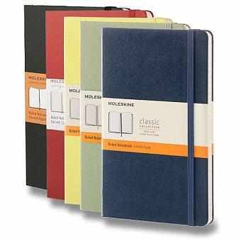 Obrázek produktu Zápisník Moleskine - tvrdé desky - L, linkovaný, výběr barev