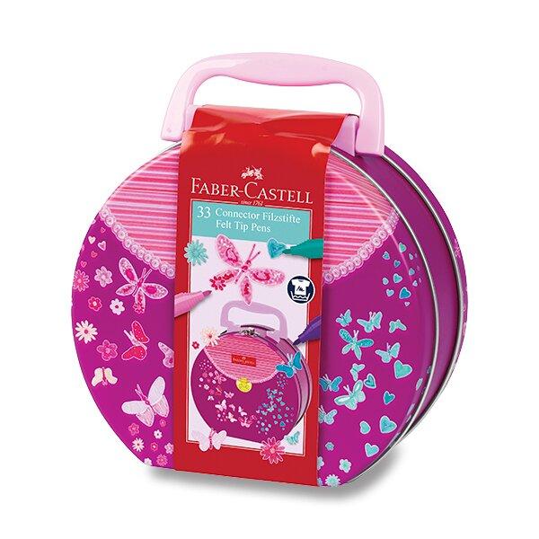 Dětské fixy Faber-Castell Connector kabelka, 33 barev