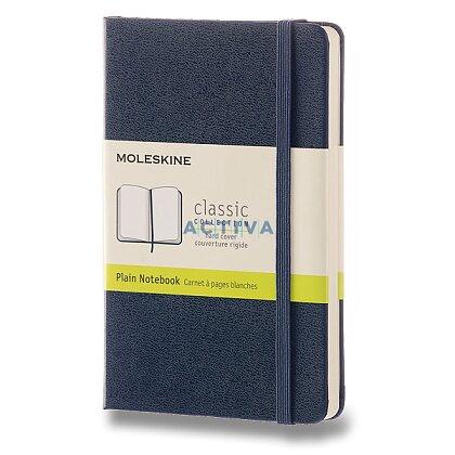 Obrázek produktu Moleskine - zápisník v tvrdých deskách - 9 x 14 cm, čistý, modrý
