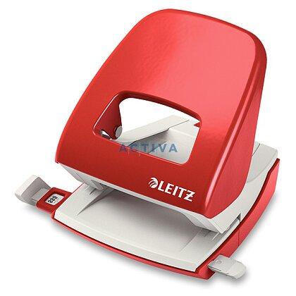 Obrázek produktu Leitz 5008 - děrovačka s příložníkem - na 30 listů, červená