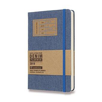 Obrázek produktu Diář Moleskine 2019 Denim, tvrdé desky - L, denní, modrý