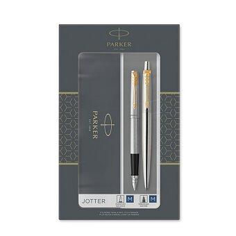 Obrázek produktu Parker Jotter Stainless Steel GT - sada plnicí pero a kuličková tužka