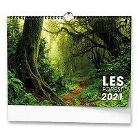 Nástěnný obrázkový kalendář Les 2021
