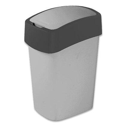 Obrázek produktu Flipbin - plastový odpadkový koš - 50 l, šedý
