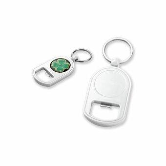 Obrázek produktu GALTON - plastový přívěsek - otvírák, bílá