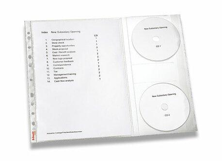 """Obrázek produktu Závěsný obal """"U"""" s obalem na 2 CD/DVD Leitz Combo - A4, 5 ks"""