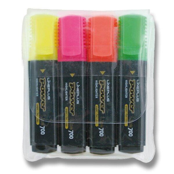 Zvýrazňovač Power sada 4 barev