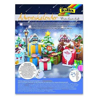 Obrázek produktu Adventní kalendář - zimní krajina - 25 dílků