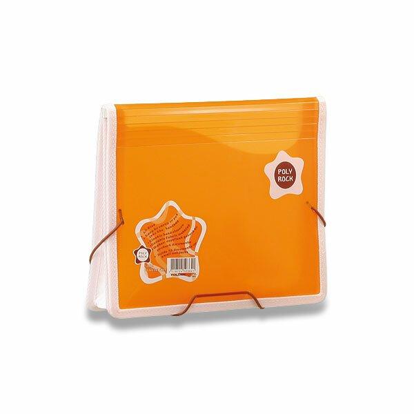 Desky na dokumenty Poly Rock oranžová, A5