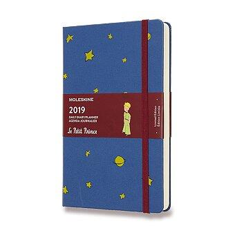 Obrázek produktu Diář Moleskine 2019 Malý princ, tvrdé desky - L, denní, modrý