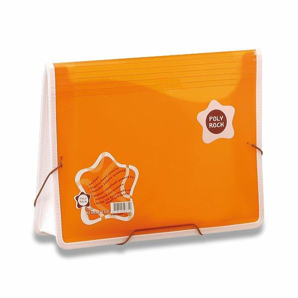 Desky na dokumenty Poly Rock oranžová, A4