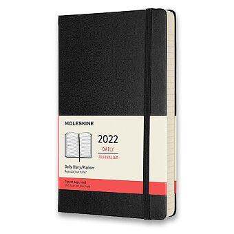 Obrázek produktu Diář Moleskine 2022 - tvrdé desky - L, denní, černý