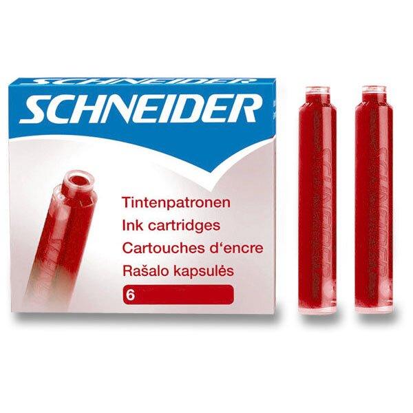 Inkoustové bombičky Schneider, 6 ks červené