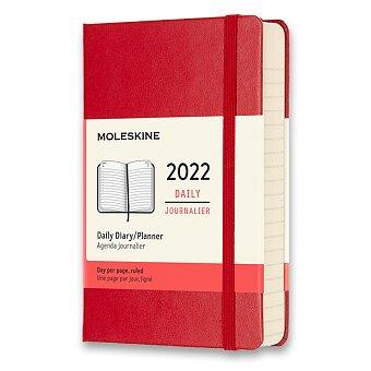 Obrázek produktu Diář Moleskine 2022 - tvrdé desky - S, denní, červený