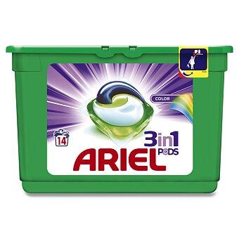 Obrázek produktu Gelové kapsle na praní Ariel Color 3 v 1 - 14 kapslí