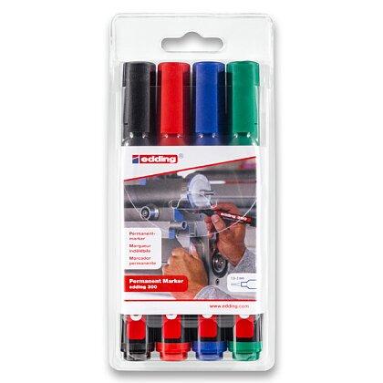 Obrázek produktu Edding Permanent Marker 300 - permanentní popisovač - 4 barvy