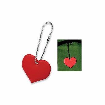 Obrázek produktu HEARTIVE - plastový přívěsek - reflexní, červená