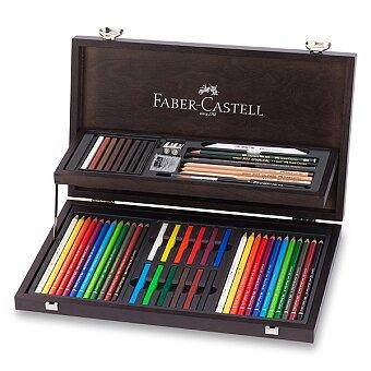Obrázek produktu Sada pro kresbu Faber-Castell Art - dřevěná kazeta, 54 ks