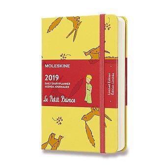 Obrázek produktu Diář Moleskine 2019 Malý princ, tvrdé desky - S, denní, žlutý