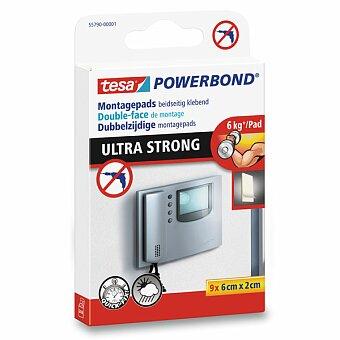 Obrázek produktu Oboustranné lepící proužky Tesa Powerbond Ultra Strong - 9 proužků, 6 x 2 cm