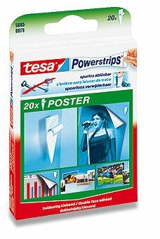 Obrázek produktu Samolepicí štítky Tesa Poster Strip - oboustranné, 20 ks
