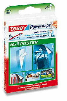 Obrázek produktu Samolepicí páska Tesa Poster Strip - oboustranná, 20 ks