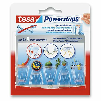 Obrázek produktu Lepící háčky Tesa Powerstrips - čiré, 5 ks