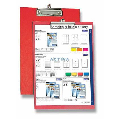 Obrázek produktu HIT Office - podložka s klipem - červená
