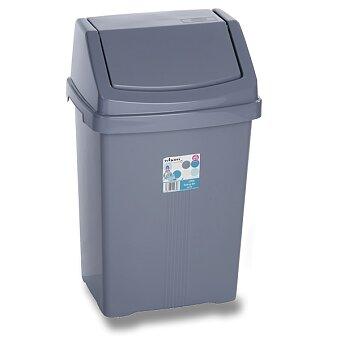 Obrázek produktu Plastový odpadkový koš Wham s víkem - modřestříbrný, výběr velikostí