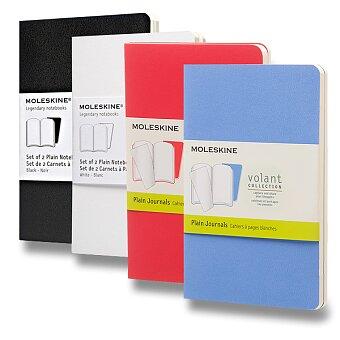 Obrázek produktu Sešity Moleskine Volant - měkké desky - S, čisté, 2 ks, výběr barev