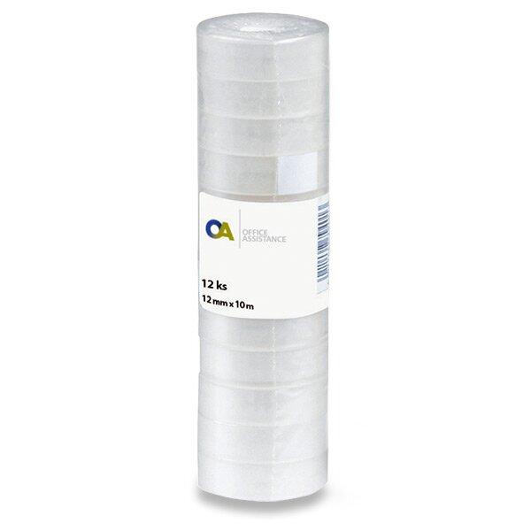 Samolepicí páska 12 mm x 10 m, 12 ks