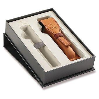 Obrázek produktu Dárková kazeta Parker Premium s hnědým koženým pouzdrem