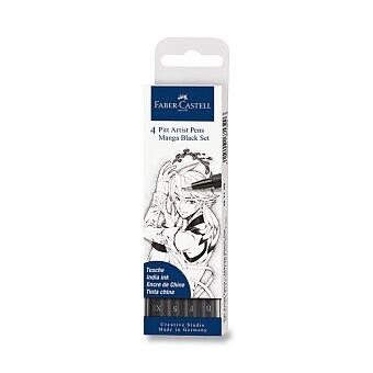 Obrázek produktu Popisovač Faber-Castell Pitt Artist Pen Manga - sada 4 ks, Black