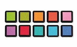 Razítkové barevné polštářky