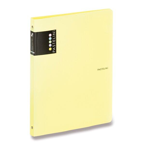 4kroužkový pořadač Pastelini žlutý