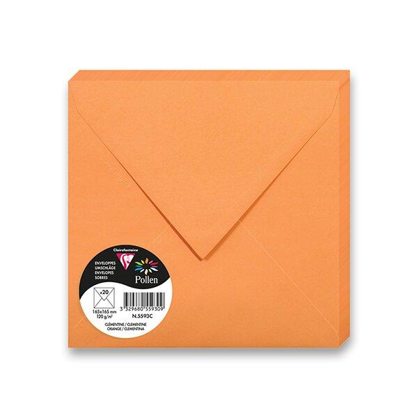 Barevná obálka Clairefontaine oranžová, 165 × 165 mm