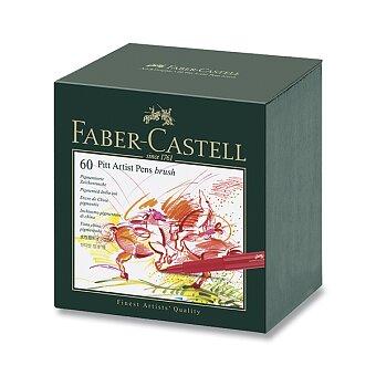 Obrázek produktu Popisovač Faber-Castell Pitt Artist Pen Brush - sada 60 ks, studio box