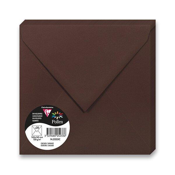 Barevná obálka Clairefontaine hnědá, 165 × 165 mm