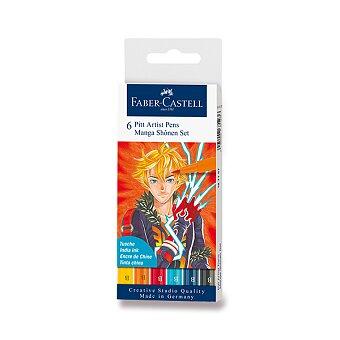 Obrázek produktu Popisovač Faber-Castell Pitt Artist Pen Manga - sada 6 ks, Shonen