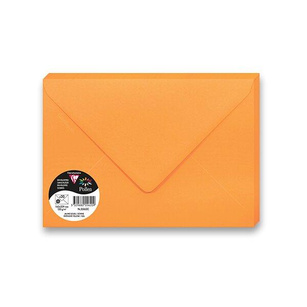 Barevná obálka Clairefontaine oranžová, 75 x 100 mm