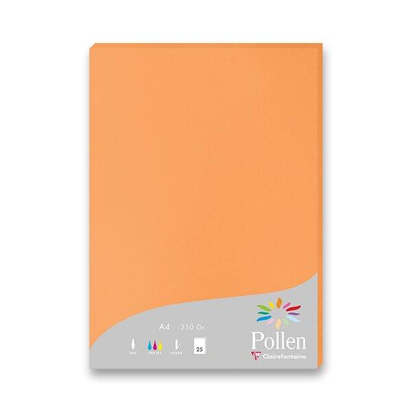 Barevná dopisní karta Clairefontaine oranžová, A4