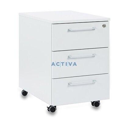 Obrázok produktu Istra - pojazdný kontajner - 3 zásuvky, svetlo šedá