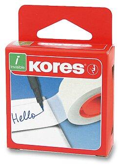 Obrázek produktu Samolepicí páska Kores Invisible - popisovatelná - výběr rozměru