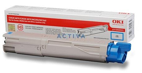 Obrázek produktu Toner OKI C3520 pro multifunkční zařízení - cyan (modrý)