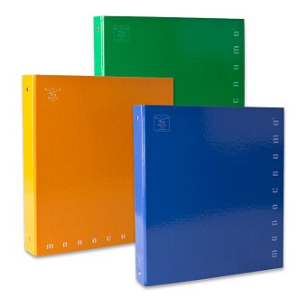 Obrázek produktu 4kroužkový pořadač Pigna Monocromo - A4, 35 mm, mix barev