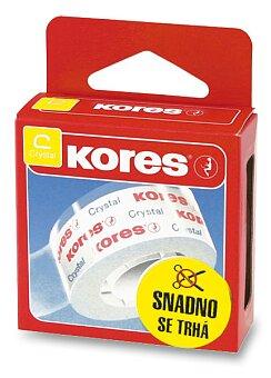 Obrázek produktu Samolepicí páska Kores Crystal - 19 mm x 33 m