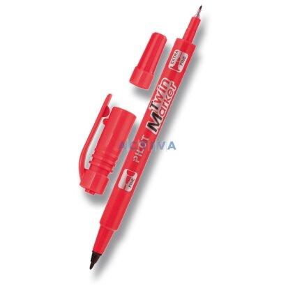 Obrázek produktu Pilot Twin Marker - permanentní popisovač - červený