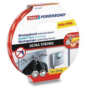 Obrázek produktu Oboustranná lepící páska Tesa Powerbond Ultra Strong - šíře 19 mm, návin 5 m, extra silná