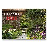 Nástěnný obrázkový kalendář Gardens 2021